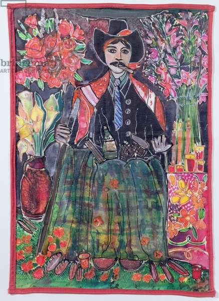 Maximon, 2005 (dyes on silk)