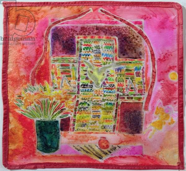 Guatemalan Shrine, 2005 (dyes on silk)
