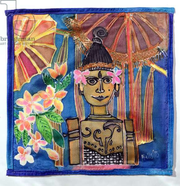 Balinese Puppet, 2005 (dyes on silk)