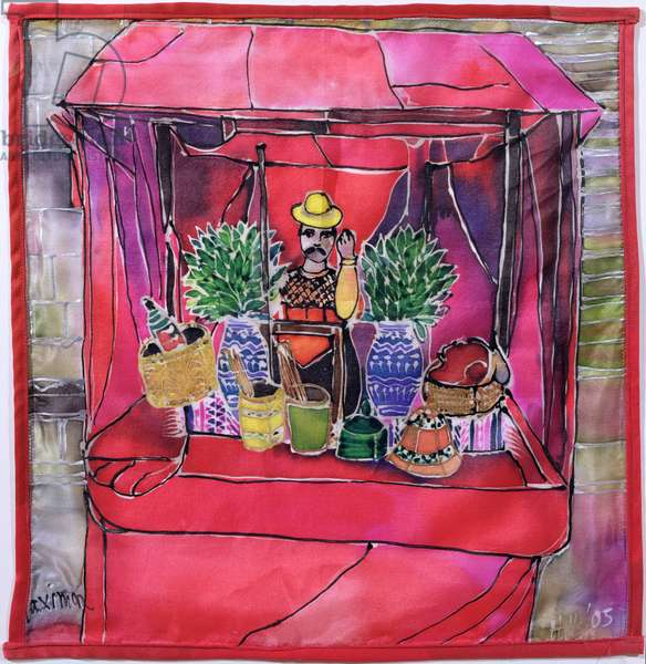 Shrine to Maximon, 2005 (dyes on silk)