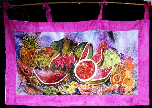 Mexican Fruits, 2003 (dyes on silk)