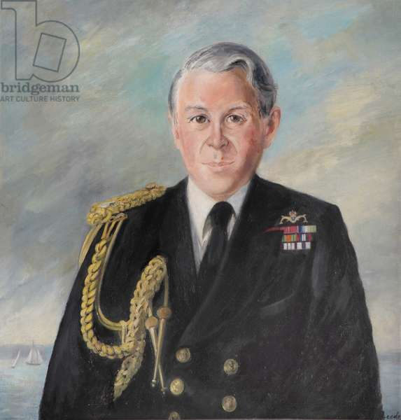 Admiral in service dress and aiguillettes, 1999 (oil on canvas)