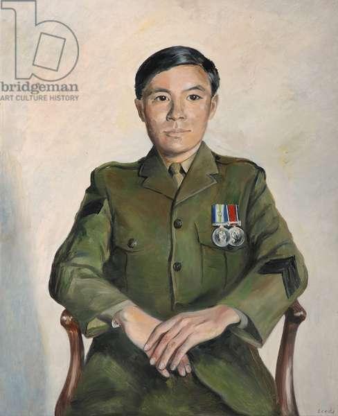 Gurkha sergeant, 1999 (oil on canvas)