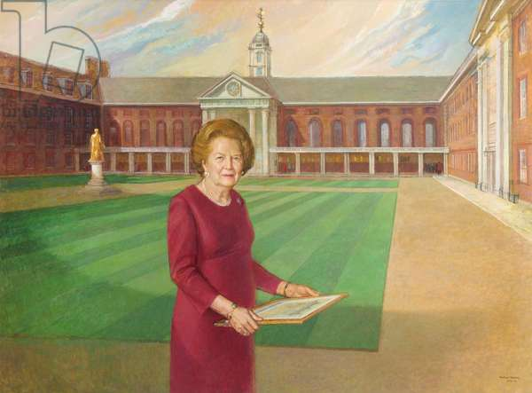 Baroness Thatcher (oil on canvas)