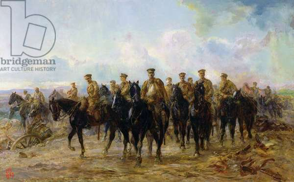 The Retreat from Mons, 1927 (oil on canvas)