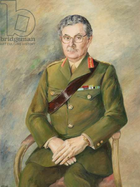 General in service dress, 1999 (oil on canvas)