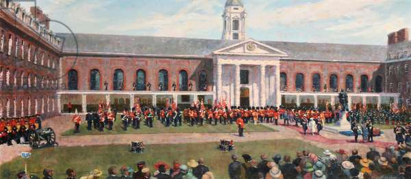 Drum Head Service, Royal Hospital,Chelsea, 1994 (oil on canvas)