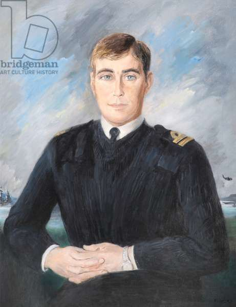 HRH Prince Andrew in pullover, 1999 (oil on canvas)