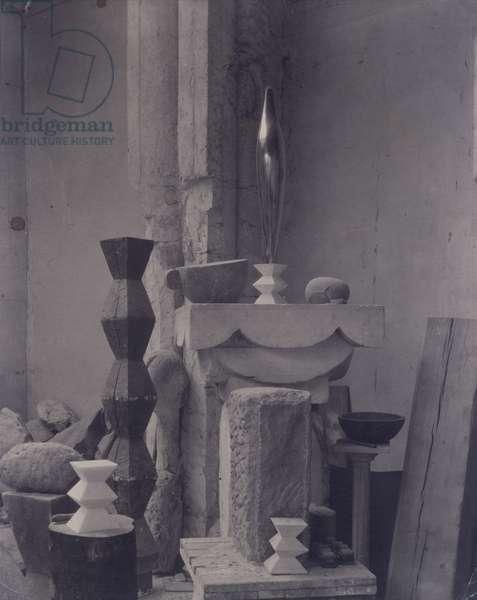 View of Brâncuși Studio, 1919-22 (gelatin silver print)