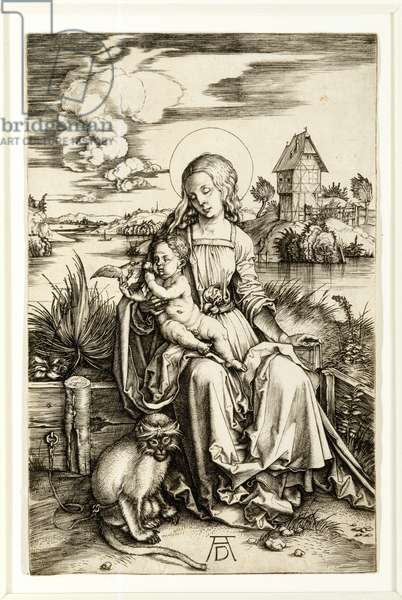 Virgin and Child with Monkey, 1498 (engraving)