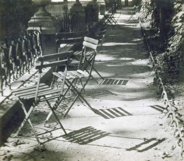 Chairs, the Medici Fountain, 1926 (vintage gelatin silver photograph)