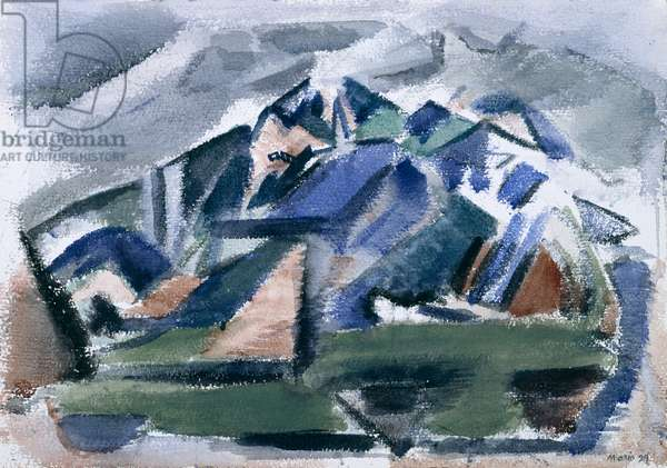 The Mountain, Taos, New Mexico, 1929 (w/c on paper)