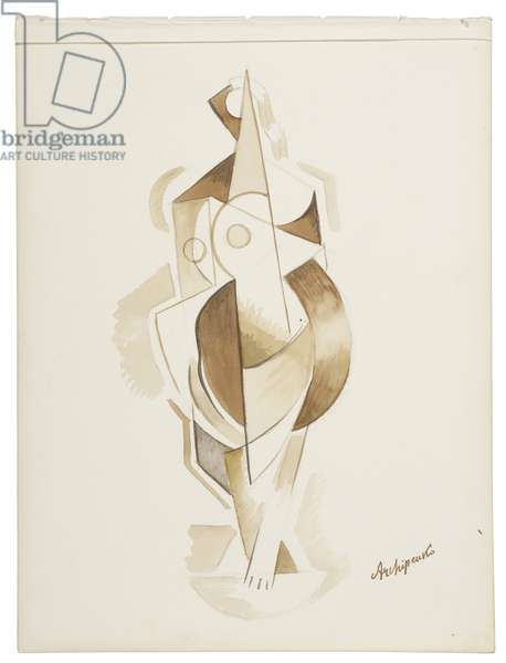 Women IX, c. 1921-1923 (watercolour and graphite on paper)