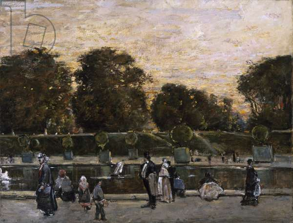 Luxembourg Gardens, no date (oil on canvas)