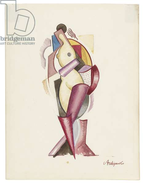 Women III, c. 1921-1923 (watercolour and graphite on paper)