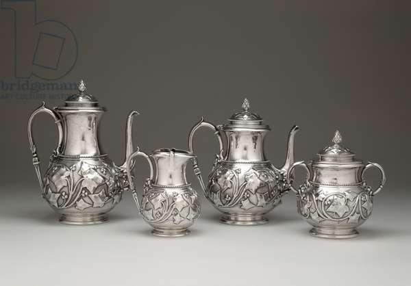 Coffee and Tea Service, Tiffany and Company, 1856-59 (silver)