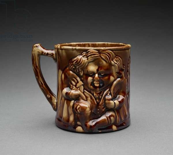 Mug, c.1850-55 (earthenware)
