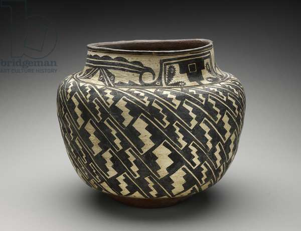 Jar (Olla) with Step Motif, 1880-90 (earthenware with slip )