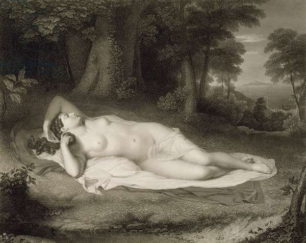 Ariadne, engraved by Asher Brown Durand (1796-1886), 1985 (line engraving on wove paper)