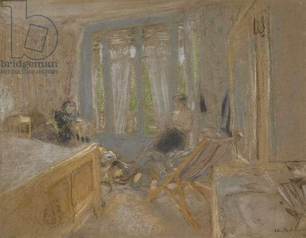 The Vuillard Family at the Closerie des Genêts, c.1921-24 (pastel on paper)