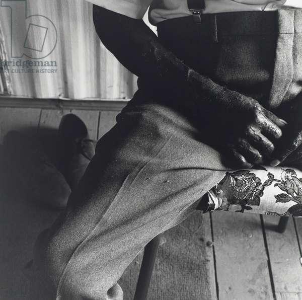 Arm, Leg, Shoes, 1990 (gelatin silver print)