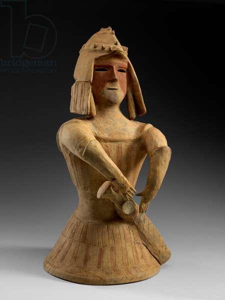 Haniwa Warrior, late 6th century (red earthenware)