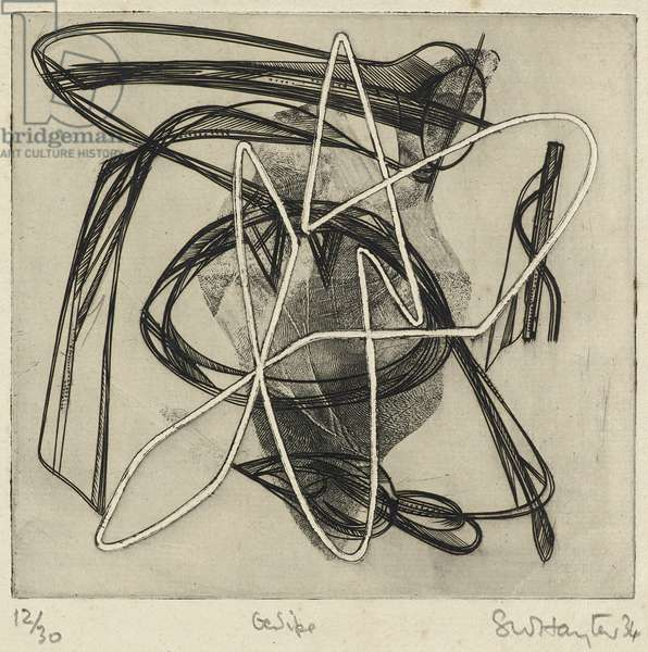 Oedipe, 1934 (embossed etching and roulette on laid paper)