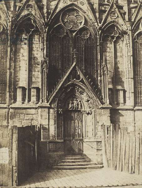 The Red Door, northern portal of the Cathedral of Notre-Dame, Paris, 1851 (salted paper print)
