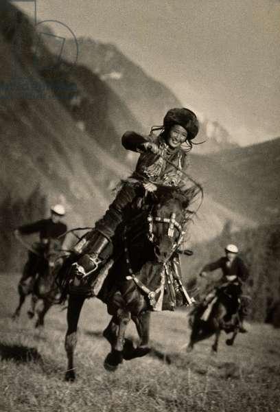Kirghiz Horsewoman, 1936 (gelatin silver photograph)