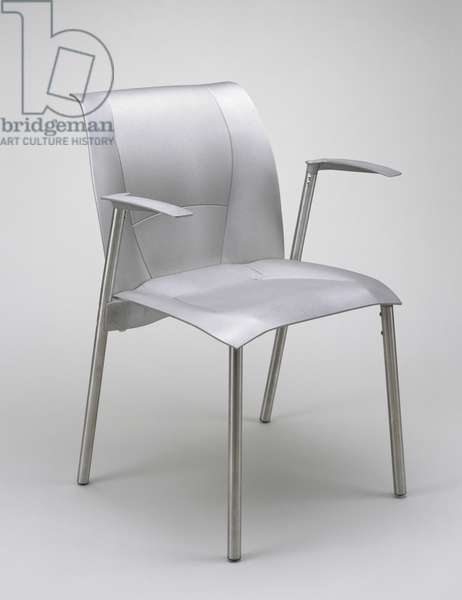 FOG Chair Prototype, designed 1998, made 1999 (aluminum and stainless steel)