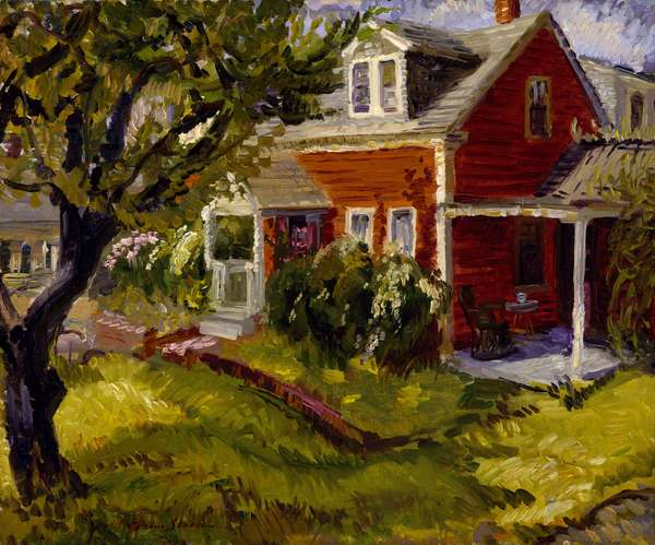 Cottage at Gloucester (oil on canvas)