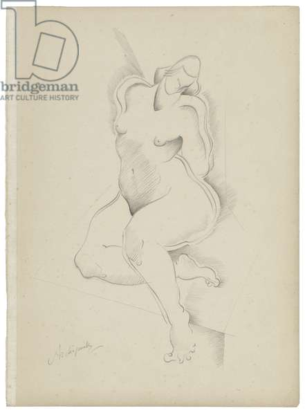 Untitled VIII, c. 1921-1923 (graphite on paper)