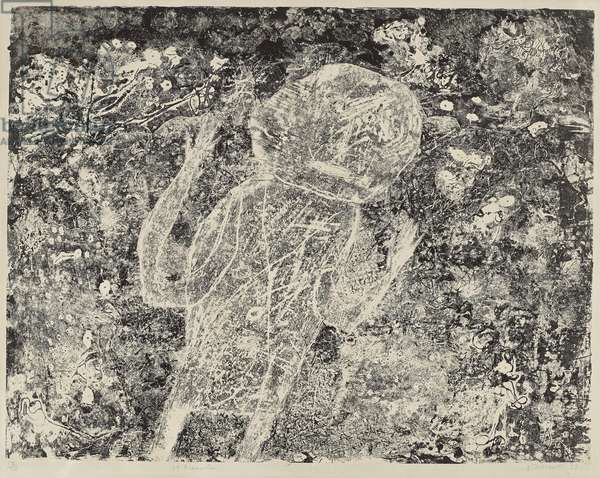 Le Braconnier, 1953 (lithograph on Arches wove paper)