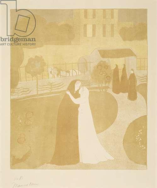 La Visitation a la Villa Montrouge (The Visitation in the Town of Montrouge), 1896 (lithograph in colours)