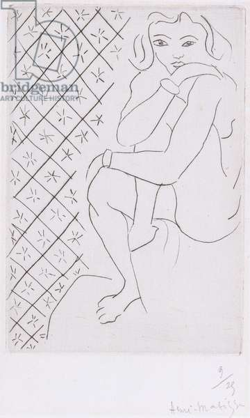 Seated Odalisque, 1929 (drypoint)