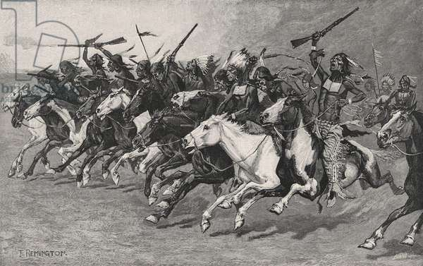 The Charge on the Sun-Pole, 1890 (wood engraving on newsprint)
