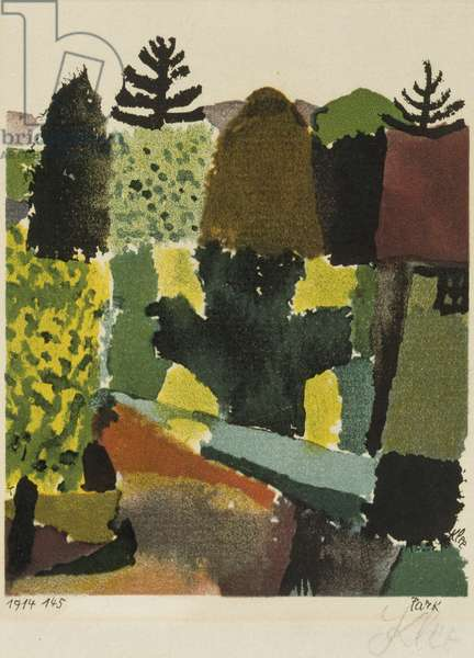 Park, 1914 (colour litho)