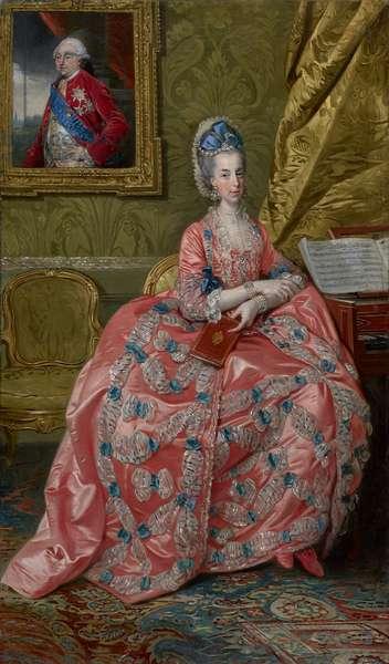 Portrait of the Archduchess Maria Amalia of Austria, Duchess of Parma, c.1778 (oil on canvas)