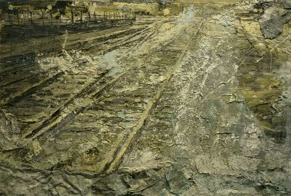 Heavenly Jerusalem, 1987-88/1997 (emulsion & shellac with lead, salt & silver leaf on canvas)