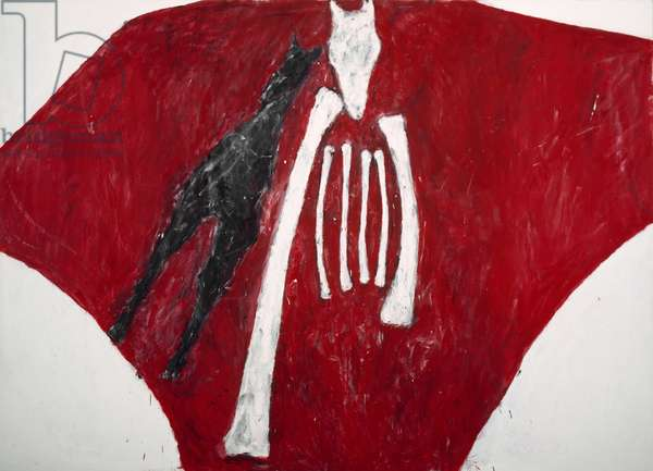 Red Banner, 1979 (acrylic on canvas)