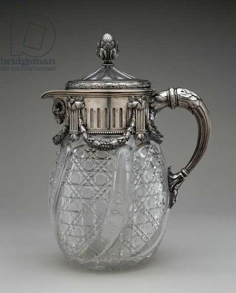 Decanter, 1899-1908 (silver, silver-gilt & glass)