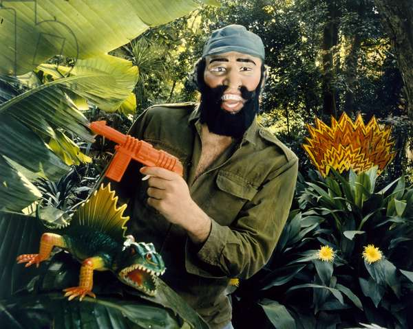 Fidel en la Sierra Maestra, Buenos Aires, 1994 (chromogenic print with applied colour)