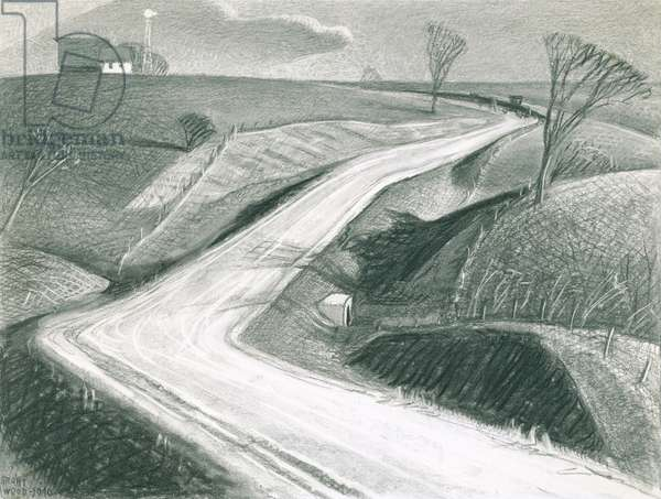 March, 1940 (charcoal on paper)