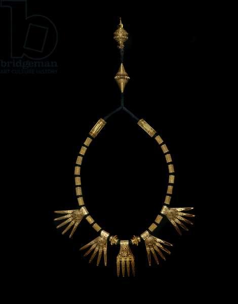 Wedding Necklace (kazhuththu uru), 19th century (gold)