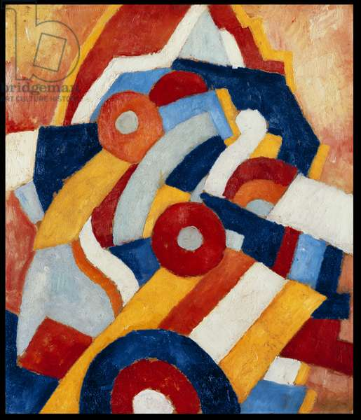 Abstraction, c.1914 (oil on paperboard mounted on panel)
