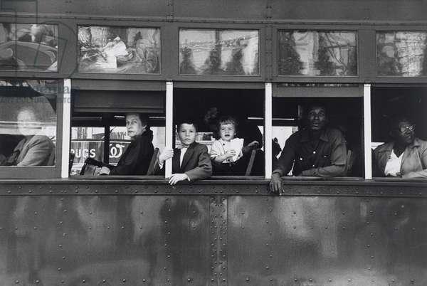 Trolley, New Orleans, 1955 (gelatin silver print)