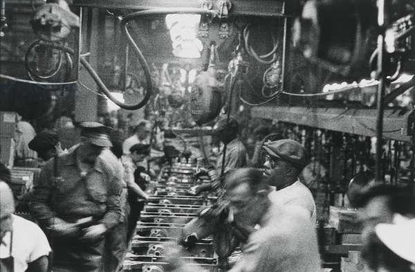 Assembly Line, Detroit, 1955 (gelatin silver print)