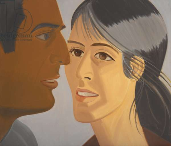 Perry and Pamela, 1977 (oil on canvas)