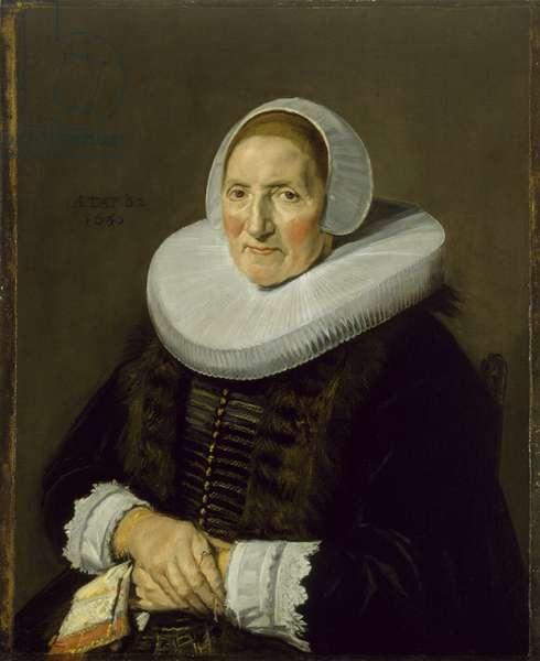 Portrait of an Elderly Woman, 1650 (oil on canvas)