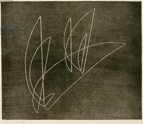 Segments, 1934 (linocut)